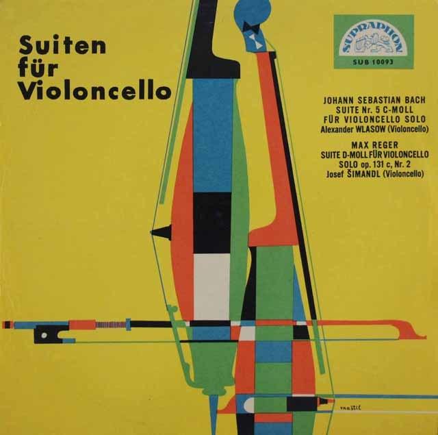 アレクサンドル・ウラソフのバッハ/無伴奏チェロ組曲第5番ほか  チェコSUPRAPHON 3048 LP レコード