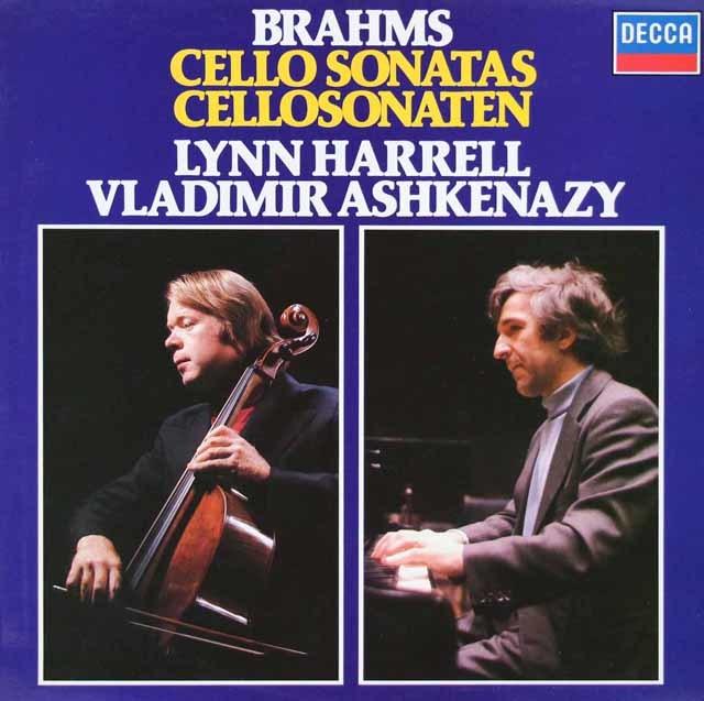 ハレル&アシュケナージのブラームス/チェロソナタ1&2番 独DECCA 3048 LP レコード