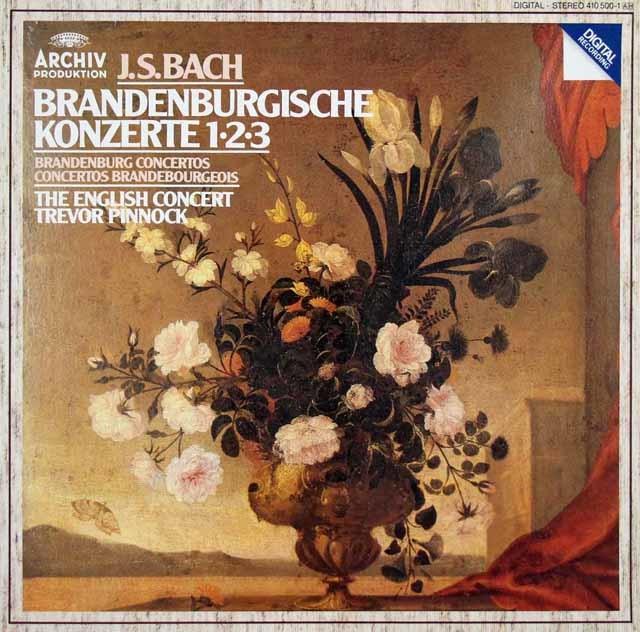 ピノックのバッハ/ブランデンブルク協奏曲第1~3番 独ARCHIV 3048 LP レコード