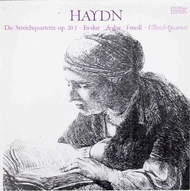 ウルブリヒ四重奏団のハイドン/弦楽四重奏曲第31番、35番 & 36番 独ETERNA 3048 LP レコード