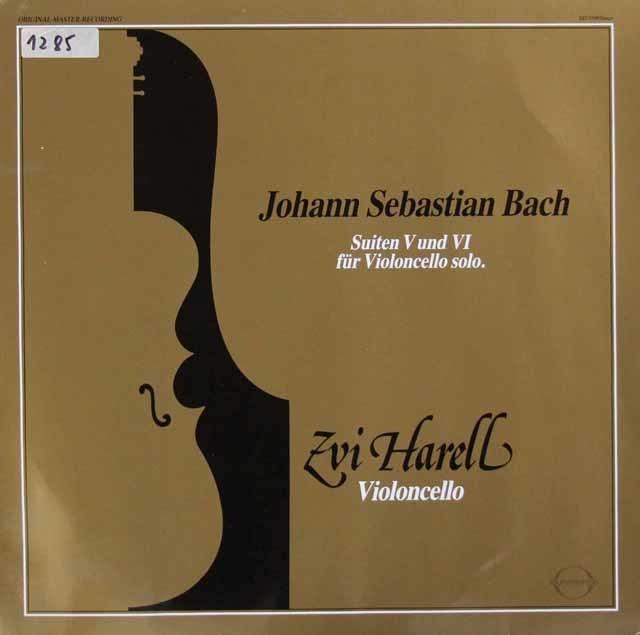 ツヴィ・ハレルのバッハ/無伴奏チェロ組曲第5&6番 独SOUND・STAR・TON 3048 LP レコード