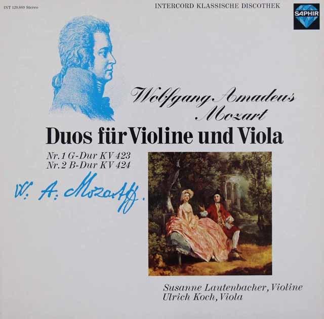 ラウテンバッハー&コッホのモーツァルト/ヴァイオリンとヴィオラのための二重奏曲第1&2番 独SAPHIR 3048 LP レコード