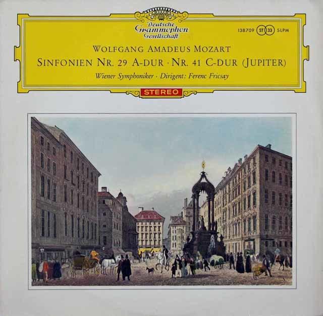 【赤ステレオ】フリッチャイのモーツァルト/交響曲第29&41番「ジュピター」  独DGG 3048 LP レコード