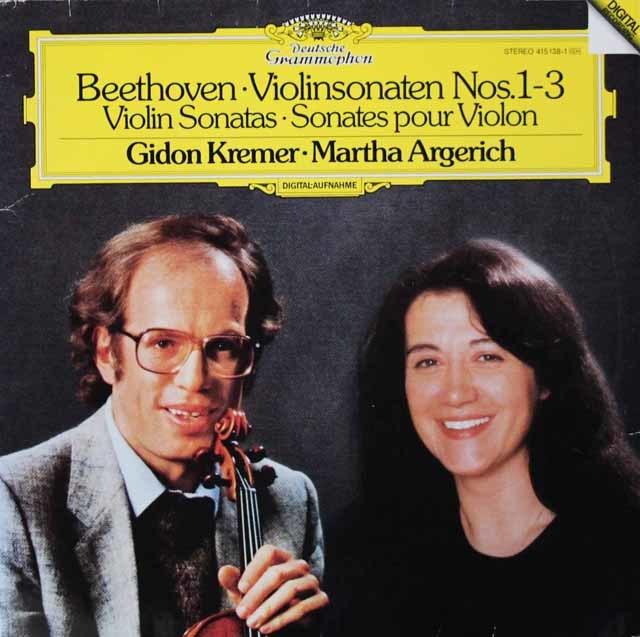 クレーメル&アルゲリッチのベートーヴェン/ヴァイオリンソナタ第1、2、3番 独DGG 3048 LP レコード