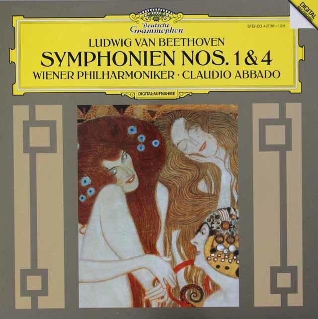 アバドのベートーヴェン/交響曲第1&4番 独DGG 3048 LP レコード