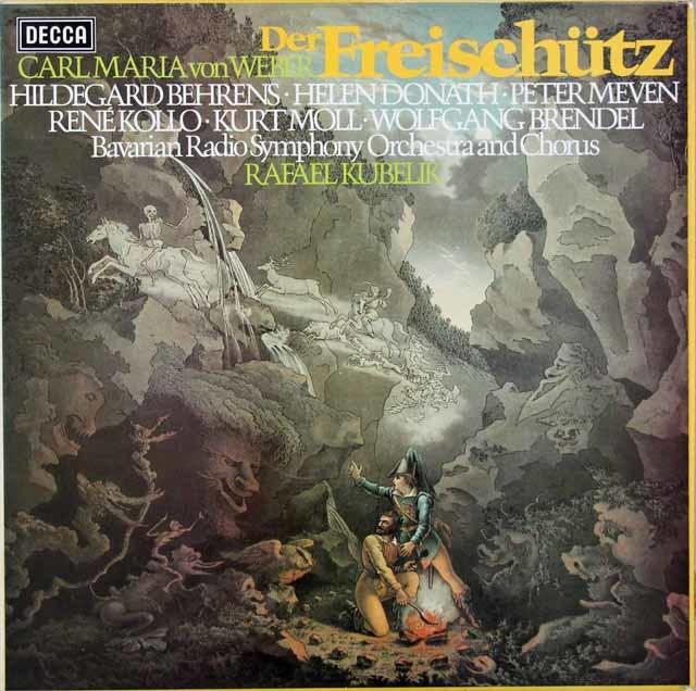 クーベリックのウェーバー/「魔弾の射手」全曲 蘭DECCA 3048 LP レコード