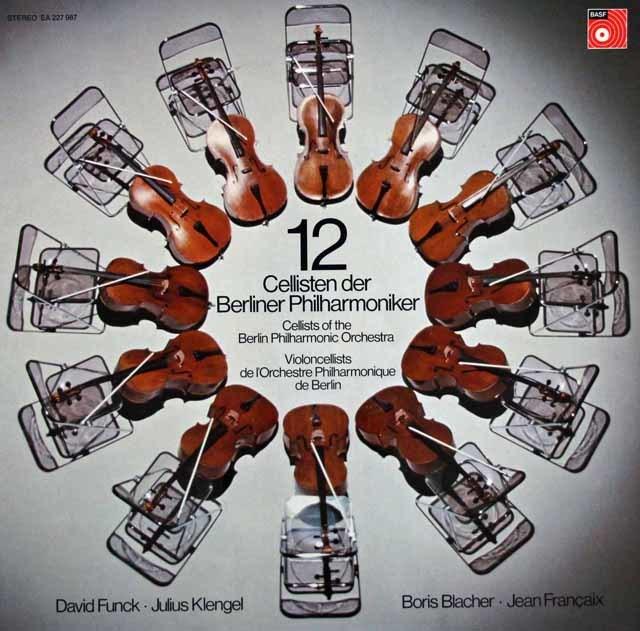 【直筆サイン入り】 ベルリン・フィルの12人のチェロ奏者たち 独BASF 3101 LP レコード