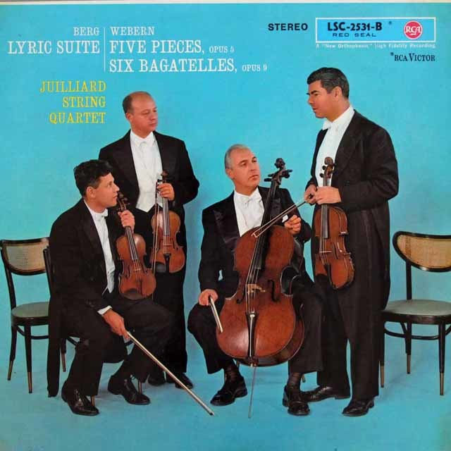 ジュリアード四重奏団のベルク/抒情組曲ほか 独RCA 3101 LP レコード