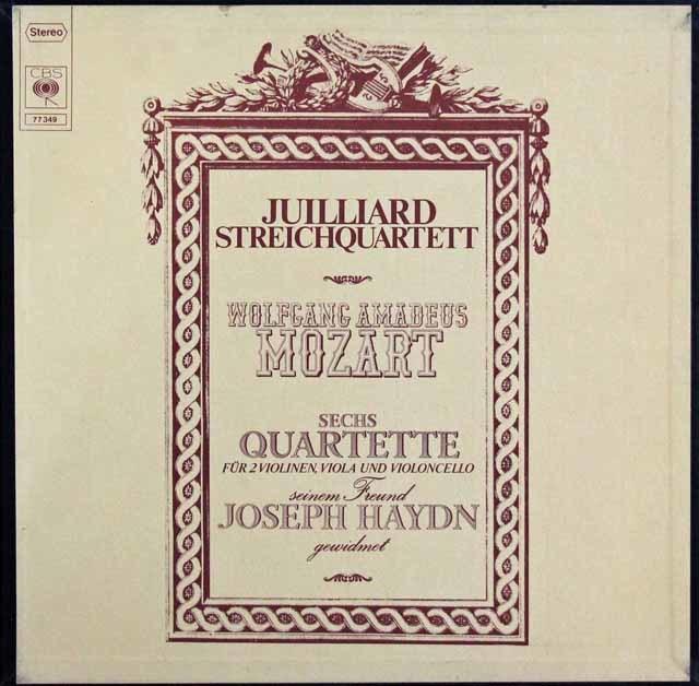 ジュリアード四重奏団のモーツァルト/弦楽四重奏曲「ハイドン・セット」 独CBS 3101 LP レコード