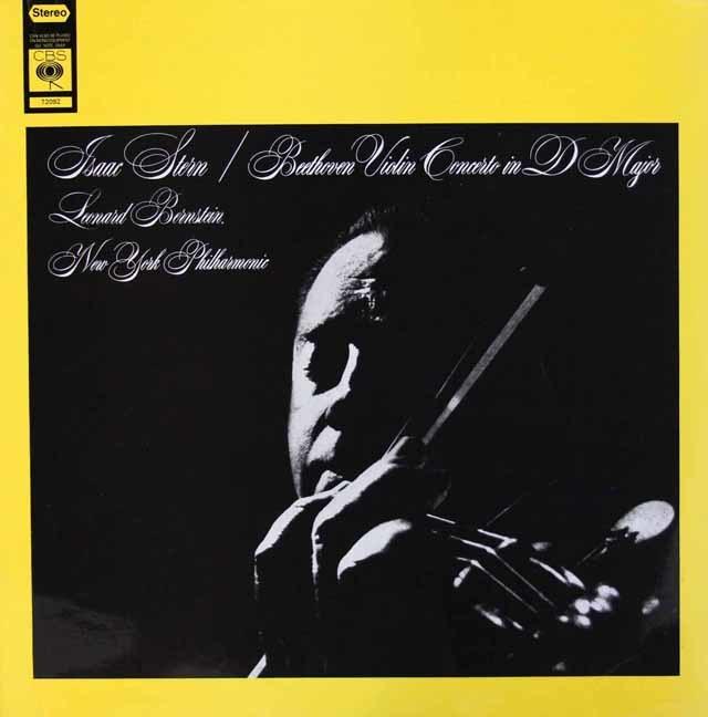 スターン&バーンスタインのベートーヴェン/ヴァイオリン協奏曲 英CBS 3101 LP レコード