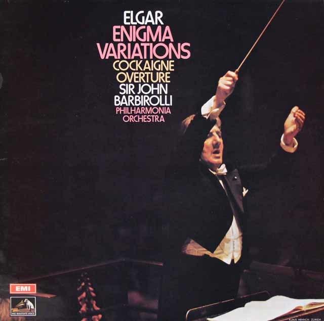 バルビローリのエルガー/エニグマ変奏曲ほか 英EMI 3101 LP レコード