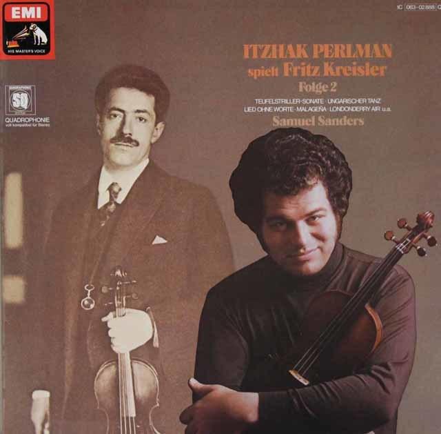 パールマンのクライスラー/ヴァイオリン名曲集 vol.2 独EMI 3101 LP レコード