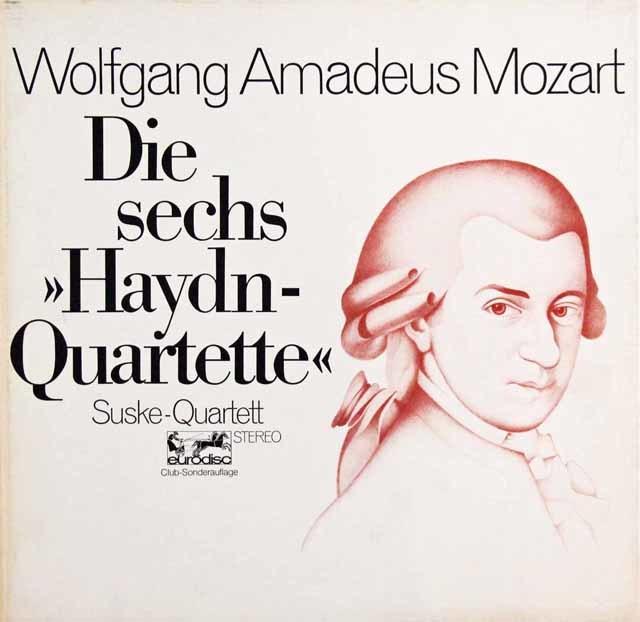 ズスケ四重奏団のモーツァルト/「ハイドンセット」 独eurodisc 3101 LP レコード