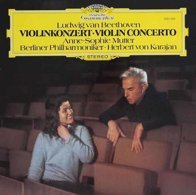 ムター&カラヤンのベートーヴェン/ヴァイオリン協奏曲 独DGG 3101 LP レコード