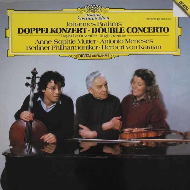 ムター、メネセス&カラヤンのブラームス/ヴァイオリンとチェロのための二重協奏曲ほか 独DGG 3101 LP レコード