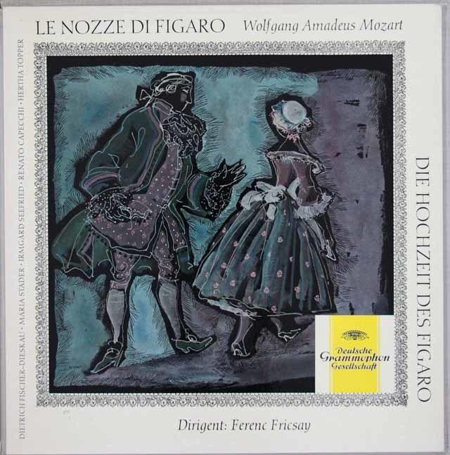 【ドイツ最初期盤】 フリッチャイのモーツァルト/「フィガロの結婚」全曲 独DGG 3101 LP レコード