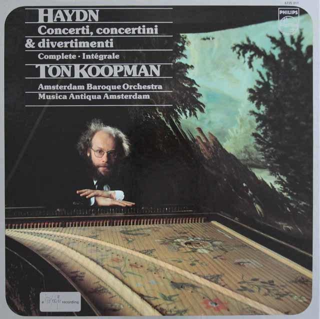 コープマンのハイドン/ディヴェルティメントと協奏曲集 蘭PHILIPS 3101 LP レコード