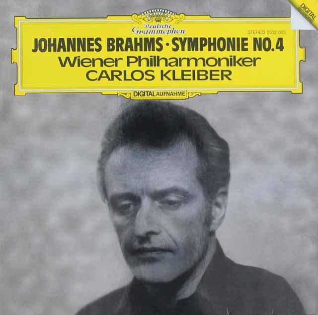 クライバーのブラームス/交響曲第4番 独DGG 3102 LP レコード