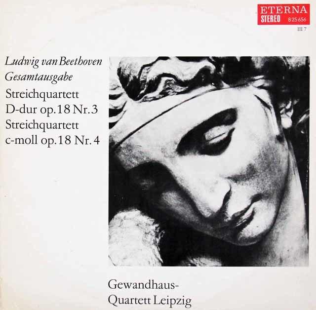 ゲヴァントハウス四重奏団のベートーヴェン/弦楽四重奏曲第3&4番 独ETERNA 3102 LP レコード