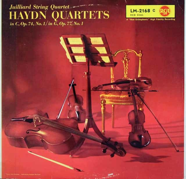 ジュリアード四重奏団のハイドン/弦楽四重奏曲第72 & 81番 独RCA 3102 LP レコード