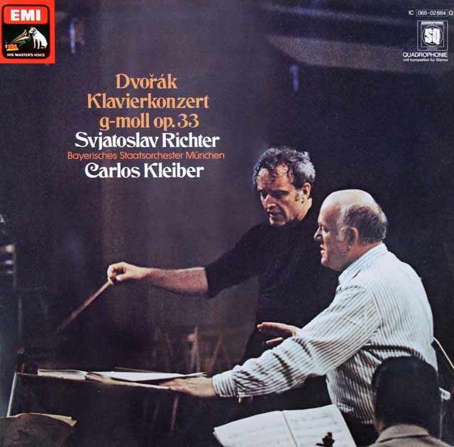 リヒテル&クライバーのドヴォルザーク/ピアノ協奏曲 独EMI 3102 LP レコード
