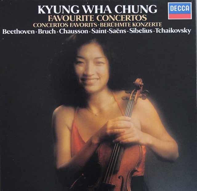 チョンのベートーヴェン、ブルッフほか/ヴァイオリン協奏曲集(特価)  蘭DECCA 3102 LP レコード