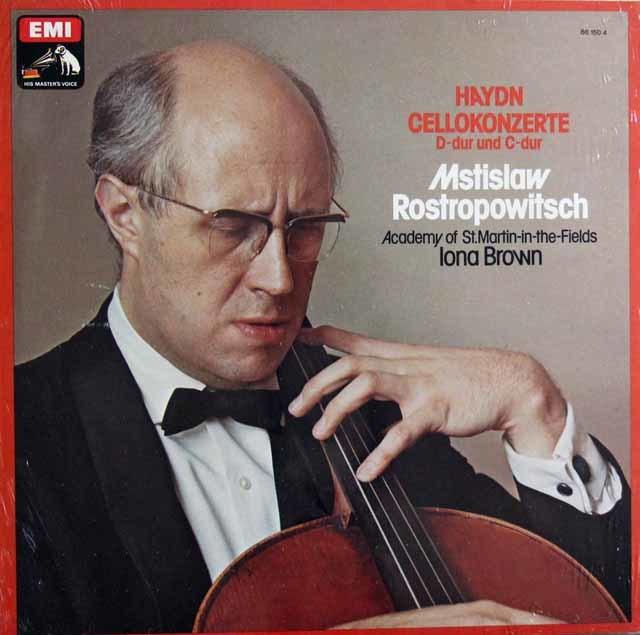 【未開封】 ロストロポーヴィチのハイドン/チェロ協奏曲第1&2番 独EMI 3102 LP レコード
