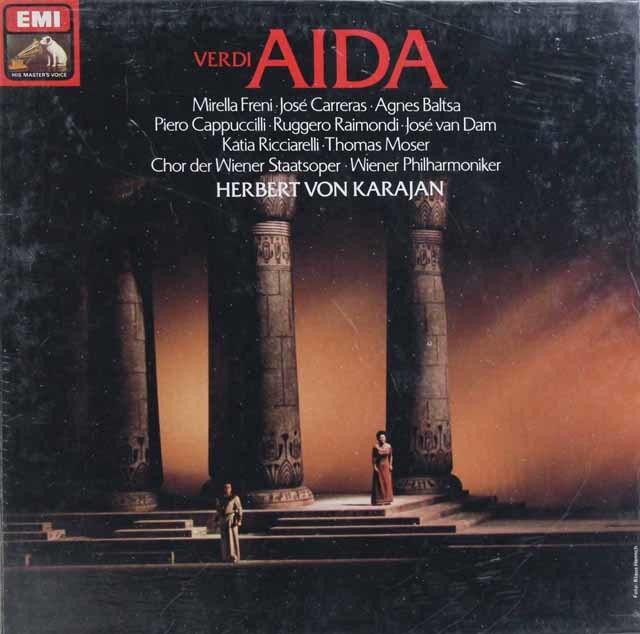 【未開封】 カラヤンのヴェルディ/「アイーダ」 独EMI 3102 LP レコード