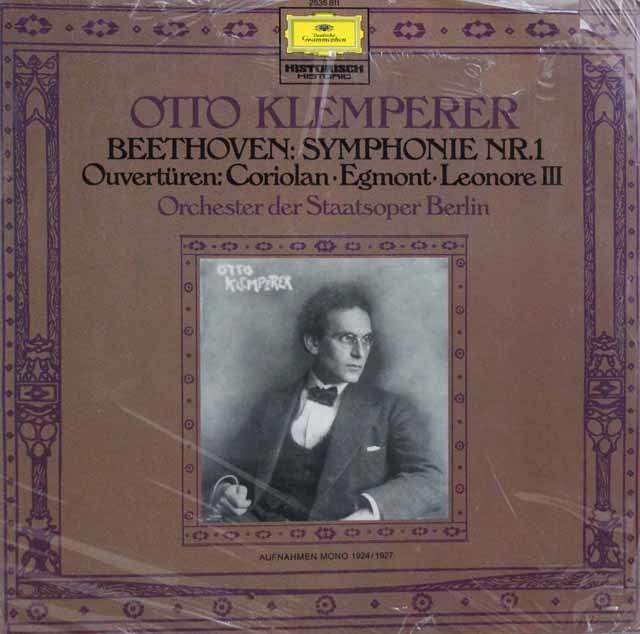 【未開封】 クレンペラーのベートーヴェン/交響曲第1番ほか  独DGG 3102 LP レコード