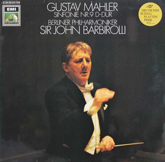 バルビローリのマーラー/交響曲第9番 独EMI 3103 LP レコード