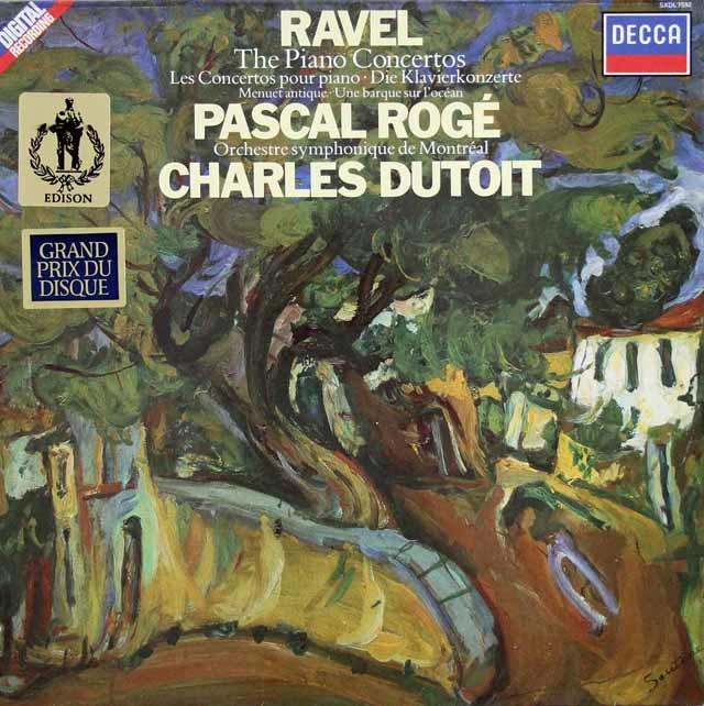 ロジェ&デュトワのラヴェル/ピアノ協奏曲&左手のためのピアノ協奏曲ほか 蘭DECCA 3103 LP レコード