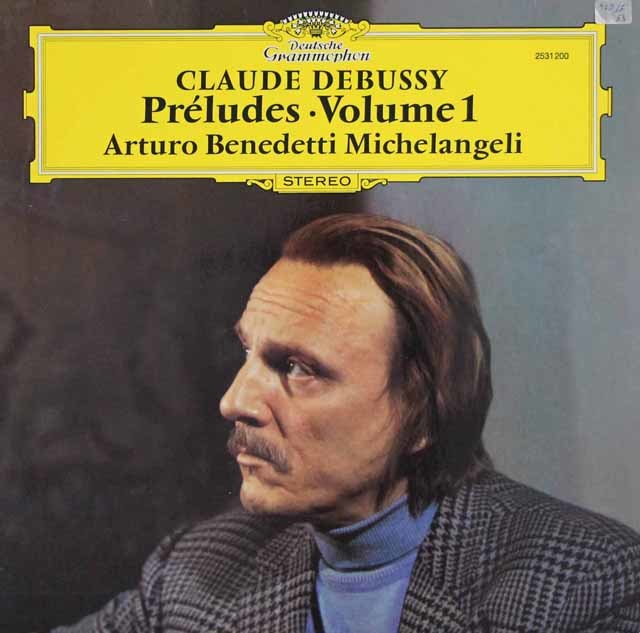 ミケランジェリのドビュッシー/前奏曲集 第1巻 独DGG 3103 LP レコード