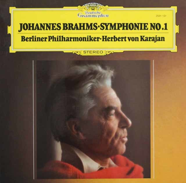 カラヤンのブラームス/交響曲第1番 独DGG 3103 LP レコード