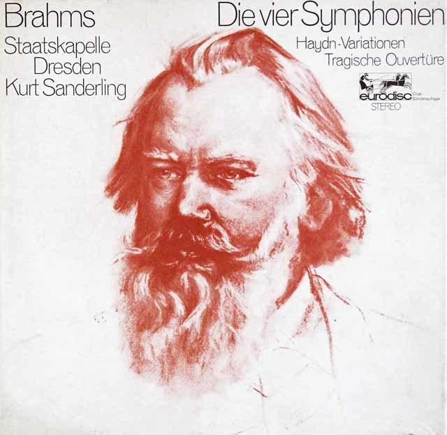 ザンデルリンクのブラームス/交響曲全集 独eurodisc 3103 LP レコード