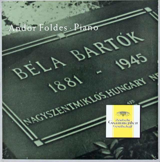 フォルデシュのバルトーク/ピアノ作品集 独DGG 3103 LP レコード