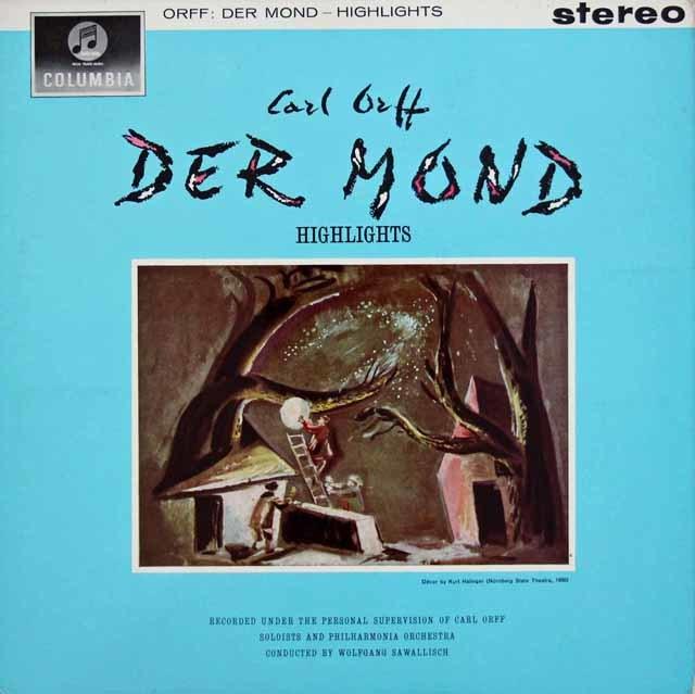 サヴァリッシュのオルフ/歌劇「月」抜粋 英Columbia   3104 LP レコード