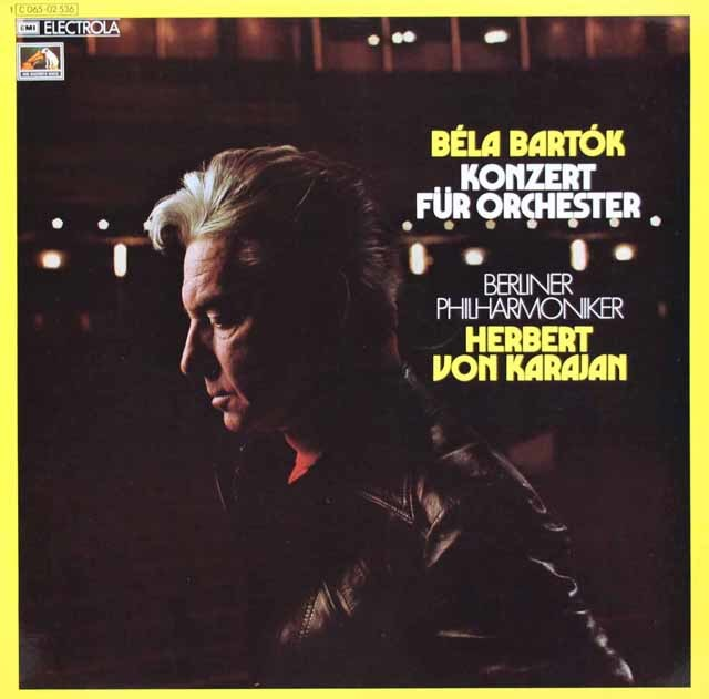 【独最初期盤】カラヤンのバルトーク/管弦楽のための協奏曲 独EMI 3104 LP レコード