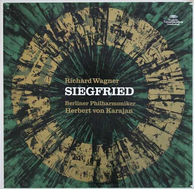 カラヤンのワーグナー/楽劇「ジークフリート」 独DGG 3104 LP レコード