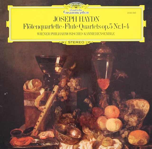 ウィーン室内合奏団のハイドン/フルート四重奏曲第1~4番  独DGG 3104 LP レコード