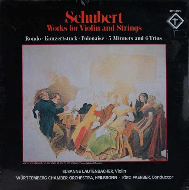 【未開封】 ラウテンバッハーのシューベルト/ヴァイオリンと弦楽合奏の為の作品集 米Turnabout 3104 LP レコード