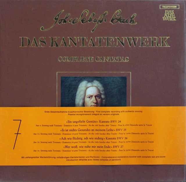 【未開封】 アーノンクールのJ.S.バッハ/教会カンタータ集BWV24-27 独TELEFUNKEN 3104 LP レコード
