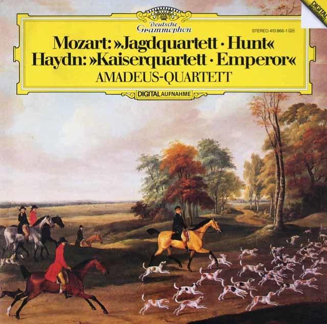 アマデウス四重奏団のハイドン/「皇帝」&モーツァルト/「狩」 独DGG 3106 LP レコード