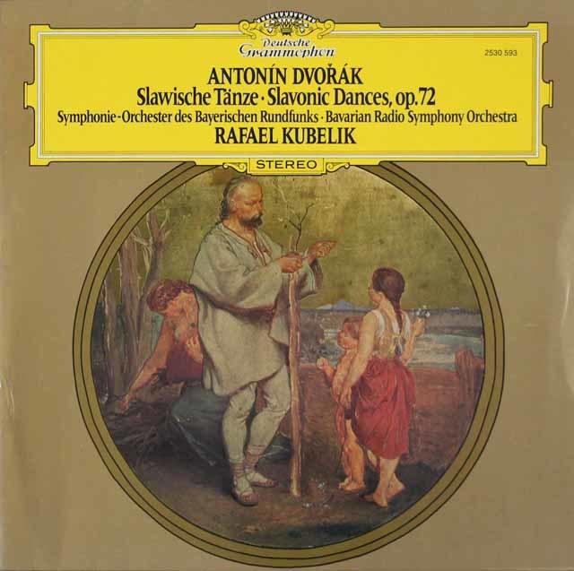 クーベリックのドヴォルザーク/スラヴ舞曲集作品72 独DGG 3106 LP レコード
