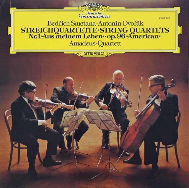 アマデウス四重奏団のスメタナ/「わが生涯より」&ドヴォルザーク/「アメリカ」 独DGG 3106 LP レコード
