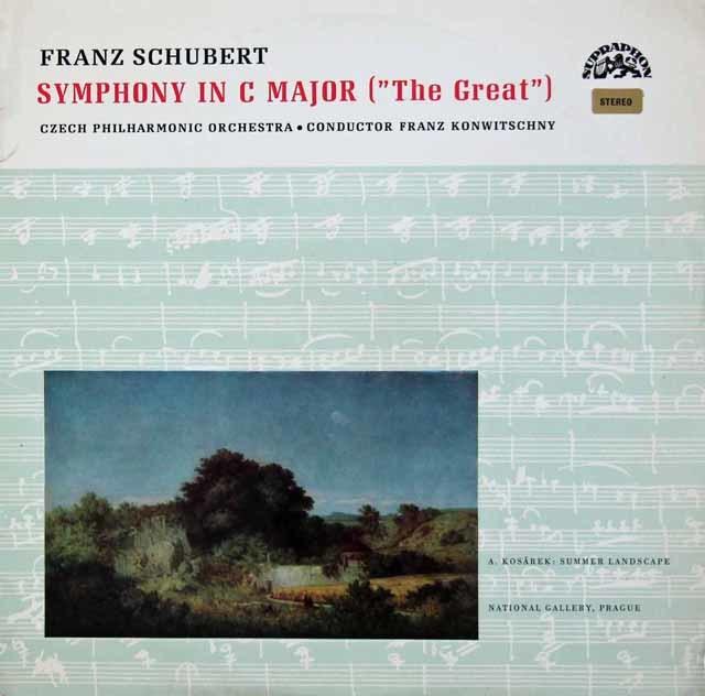 コンヴィチュニーのシューベルト/交響曲ハ長調「グレイト」  チェコスロヴァキアSUPRAPHON 3106 LP レコード