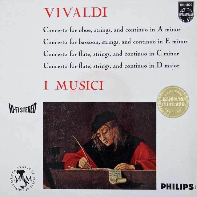 イ・ムジチのヴィヴァルディ/協奏曲集 蘭PHILIPS 3106 LP レコード