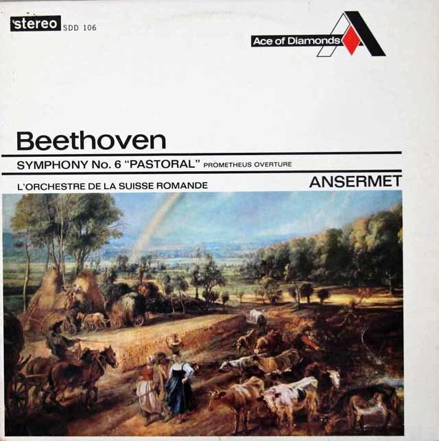 アンセルメのベートーヴェン/交響曲第6番「田園」 ジャマイカAce of Diamonds 3106 LP レコード