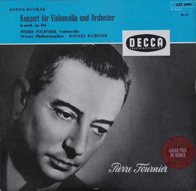 フルニエ&クーベリックのドヴォルザーク/チェロ協奏曲 独DECCA 3106 LP レコード