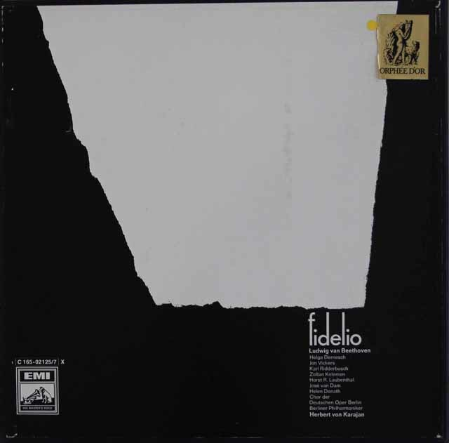 【直筆サイン入り】 カラヤンのベートーヴェン/「フィデリオ」 独EMI 3106 LP レコード