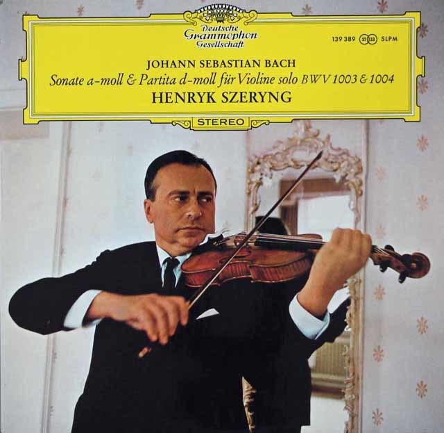 シェリングのバッハ/無伴奏ヴァイオリン・ソナタ&パルティータ第2番(「シャコンヌ」) 独DGG 3107 LP レコード